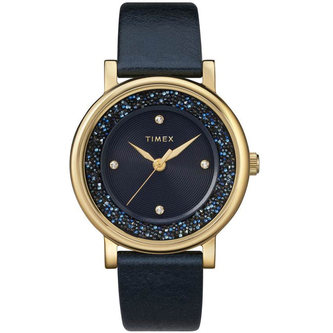 Timex T2R931 Women's Crystal Opulence Swarovski® Blue Leather Watch