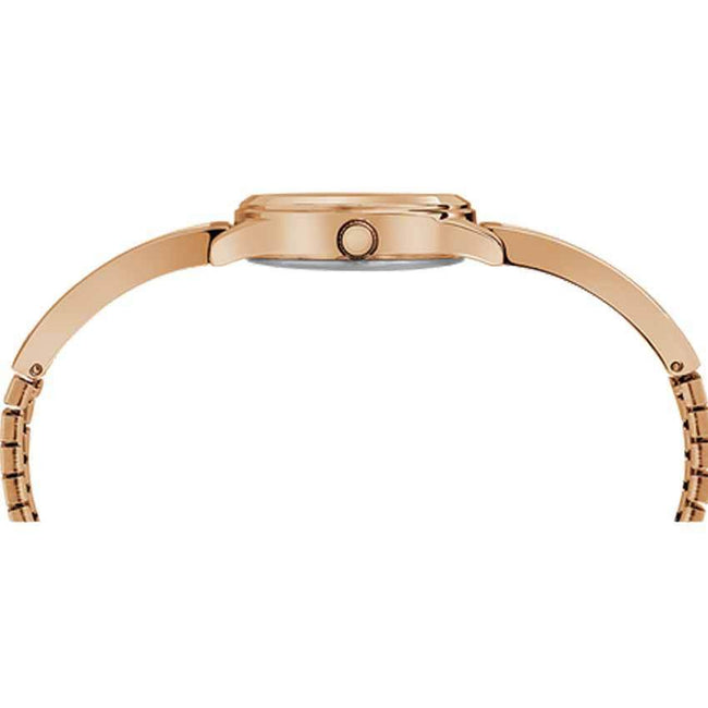 Timex T2R984 Women's Rose-Gold Fashion Stretch Bangle 25mm Expansion Small Watch