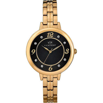 Timex ViewPoint CC3D840 Women's Polished Yellow Gold Bracelet Watch