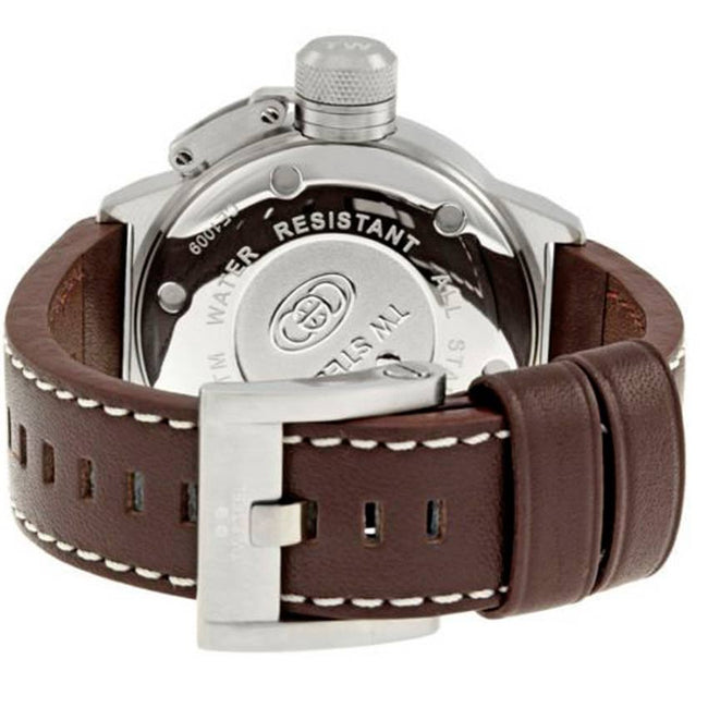 TW Steel CE1009 Men's Canteen Stainless Steel Brown Dial Leather Watch