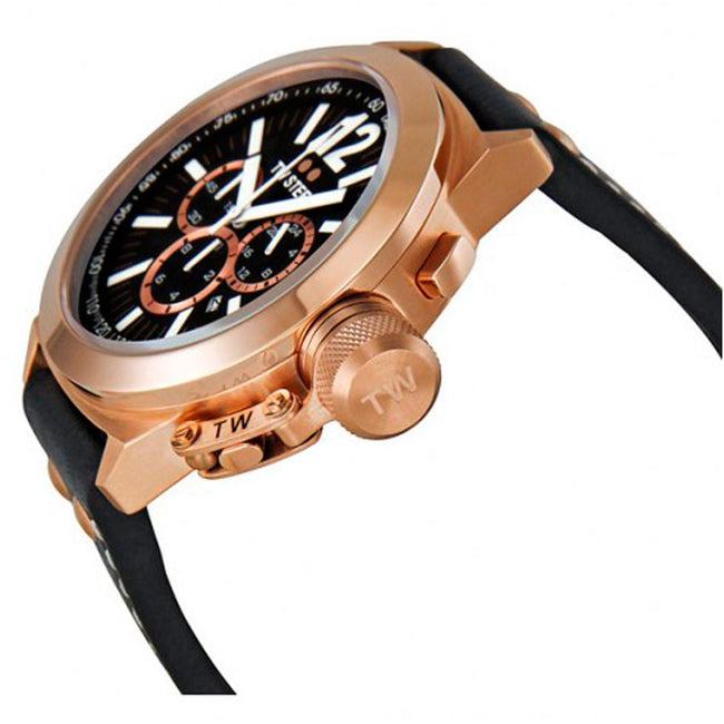 TW Steel CE1023 Men's Canteen Chronograph Rose Gold Leather Watch
