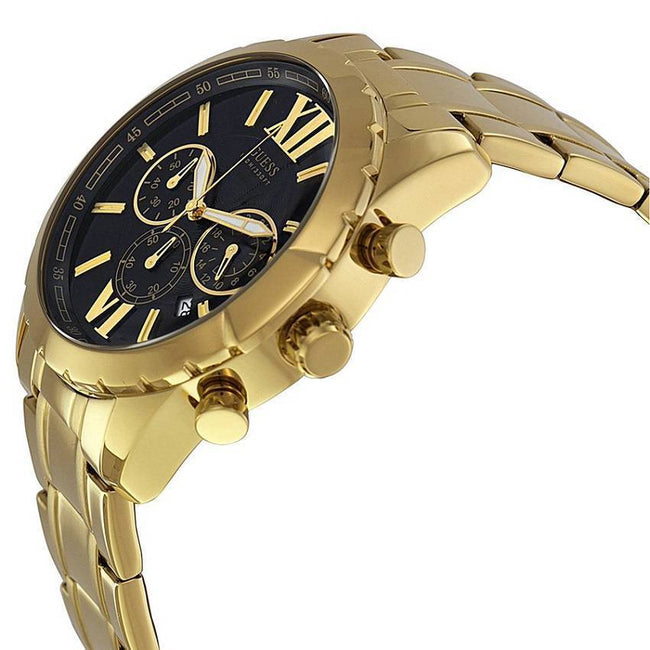 GUESS U0193G1 Men's Gold-Tone Stainless Steel Bracelet Watch
