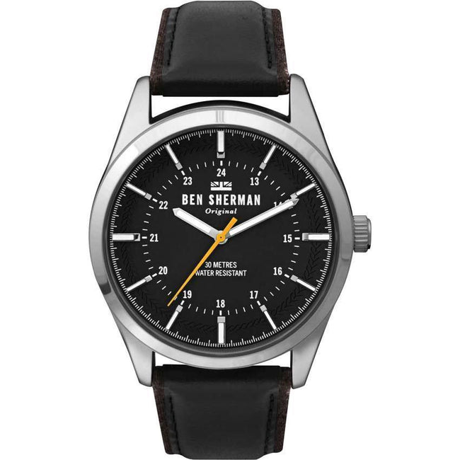 Ben Sherman WB027B Men's Analogue Black Leather Watch