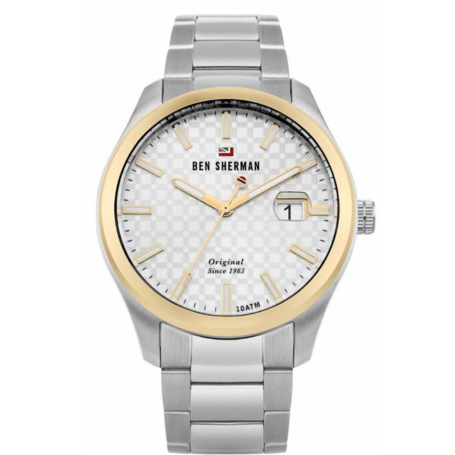 Ben Sherman WBS109GSM Men's The Ronnie Professional Silver Sunray Dial Watch