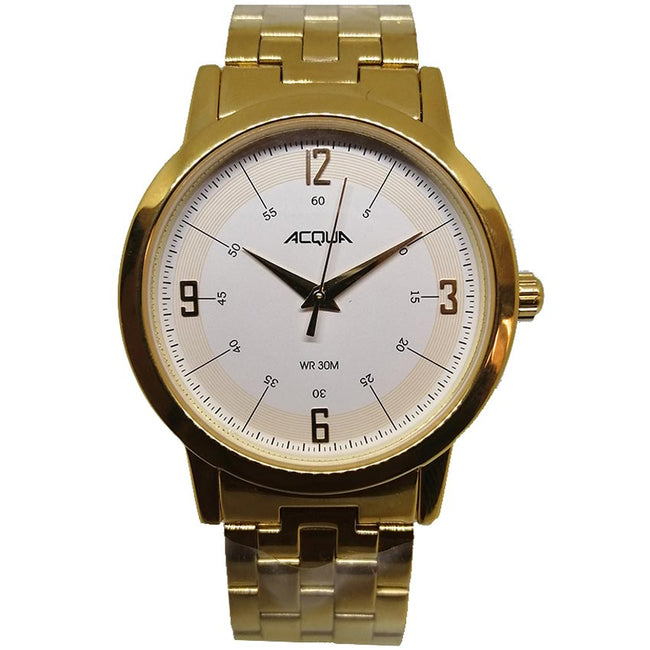Timex Acqua 3C78900 Unisex Analog Gold-Tone Steel Medium Watch
