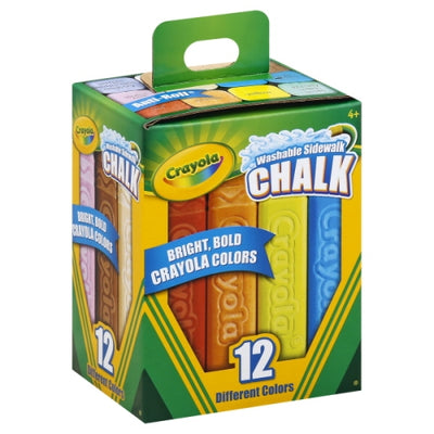 Crayola 12 Washable Sidewalk Chalk - Crayola - Toys101