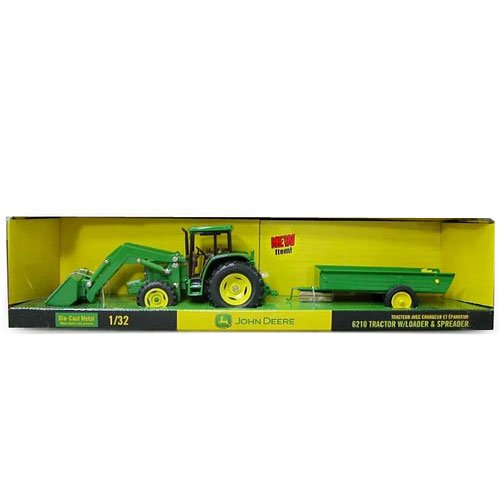 John Deere 6210 Tractor With Trailor And Spreader - John Deere - Toys101