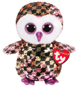 Ty Flippable Medium Checks Owl - Ty - Toys101