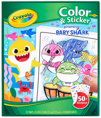 Crayola Colour Sticker Baby Shark - Crayola - Toys101