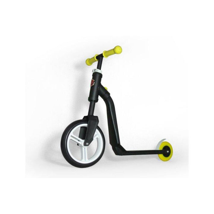 Scooter And Push Bike Black-Yellow - High Way Freak Scooter - Toys101