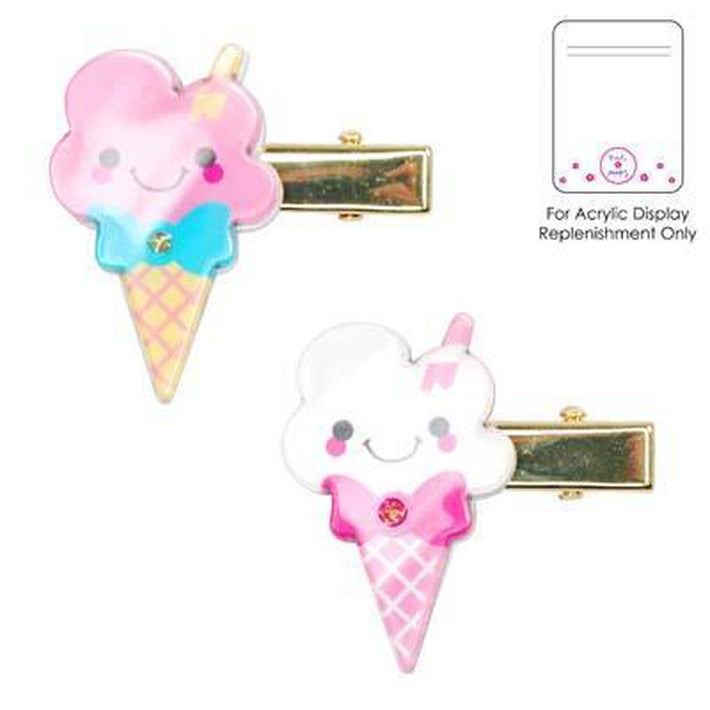 Pp Creamy Ice Cream Hairclip Asst - Pink Poppy - Toys101