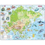 Map Of Asia Puzzle - Safari - Toys101