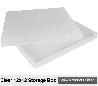 12 by 12 scrapbook storage box