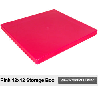 12 x 12 scrapbook storage box pink
