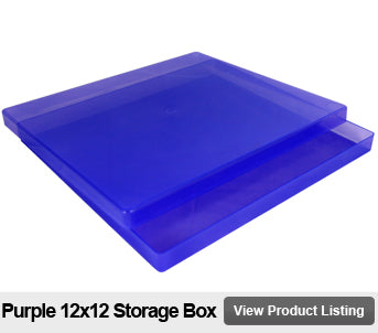 12x12 scrapbook storage box purple
