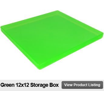 12 by 12 Scrapbooking Box Green