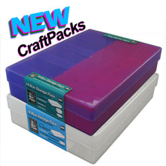 colourful craft storage boxes