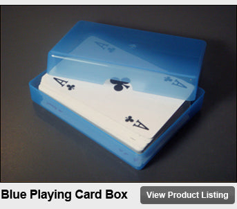 Blue Plastic Playing Card Storage Box