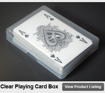 Clear Transparent Plastic Playing Cards Box