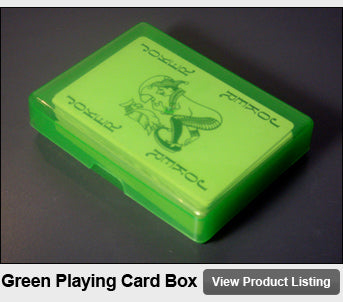 Green Plastic Playing Cards Storage Box