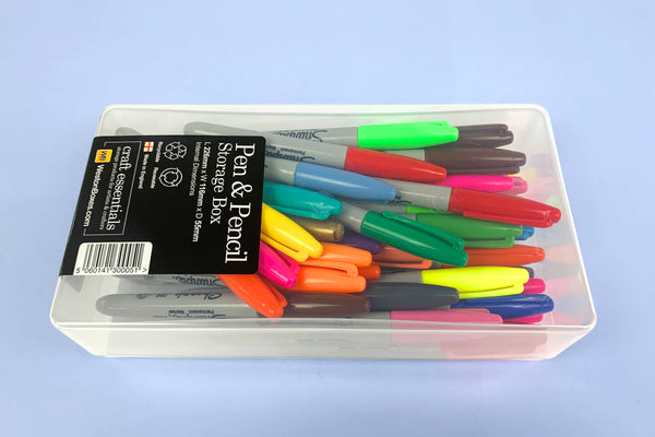 WestonBoxes Pen And Pencil Storage Box With Sharpies