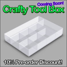craft storage box with dividers