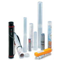 clear plastic poster tubes