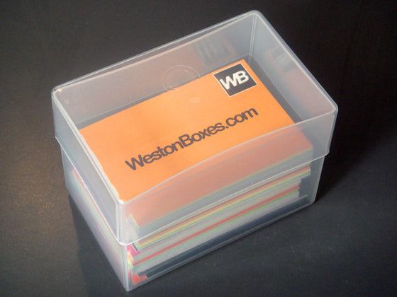 Plastic Business Card Boxes: To Hold 250 Business Cards