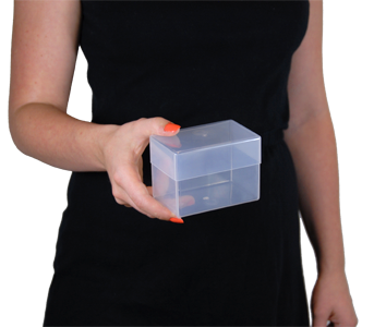 plastic business card boxes