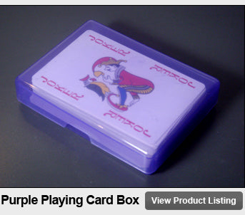 Purple Plastic Playing Card Storage Box