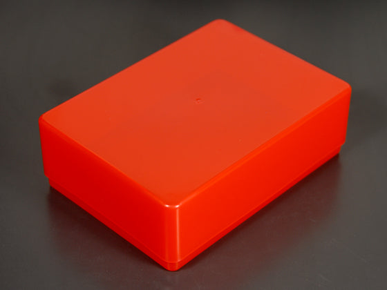 red plastic boxes