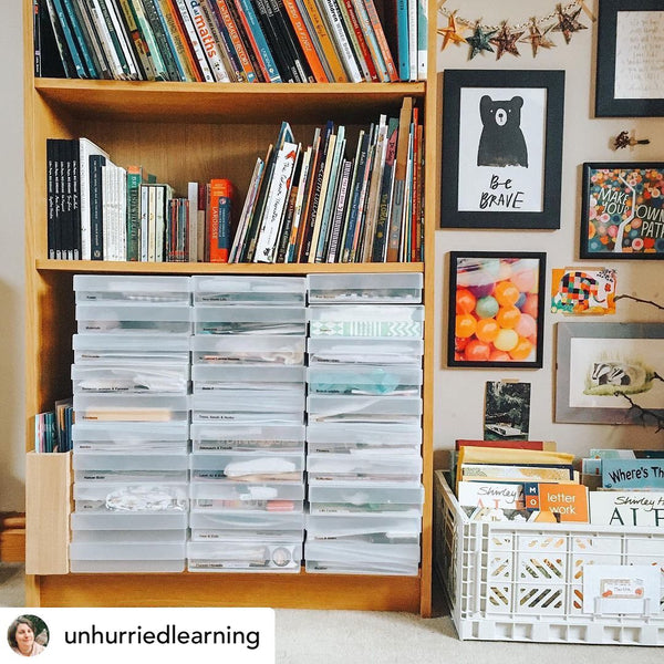 westonboxes a4 storage boxes in a craftroom by @unhurriedlearning