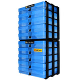A4 Box Stak Craft Storage Unit + 5 A4 Boxes, Blue (2-pack)