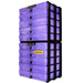 Purple / Transparent, WestonBoxes Craft Storage Box Stak Stack Unit For A4 Paper Storage Boxes