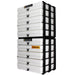 White / Opaque, WestonBoxes Craft Storage Box Stak Stack Unit For A4 Paper Storage Boxes