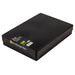 Black / Opaque, WestonBoxes Plastic A4 Paper Storage Box With Lid