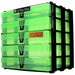 Green / Transparent, WestonBoxes Craft Storage Box Stak Stack Unit For A4 Paper Storage Boxes
