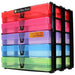 MixPack / Transparent, WestonBoxes Craft Storage Box Stak Stack Unit For A4 Paper Storage Boxes