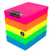 Neon MixPack / Opaque, WestonBoxes Plastic A4 Paper Storage Box With Lid
