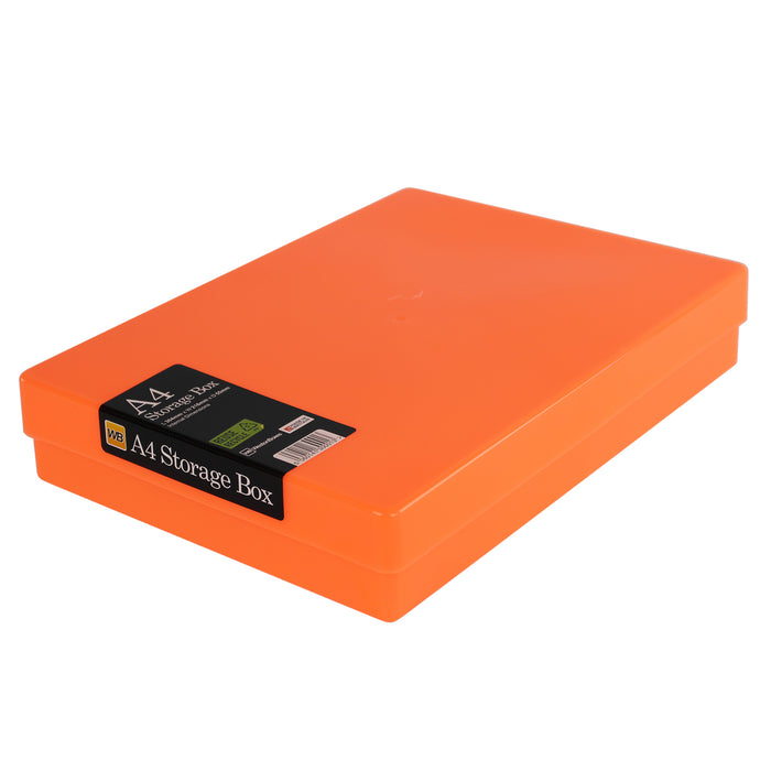 A4 Plastic Storage Box, Neon