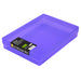 Purple / Transparent, WestonBoxes Plastic A4 Paper Storage Box With Lid