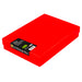 Red / Transparent, WestonBoxes Plastic A4 Paper Storage Box With Lid