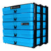 Neon Blue / Opaque, WestonBoxes Craft Storage Box Stak Stack Unit For A4 Paper Storage Boxes