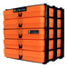Neon Orange / Opaque, WestonBoxes Craft Storage Box Stak Stack Unit For A4 Paper Storage Boxes