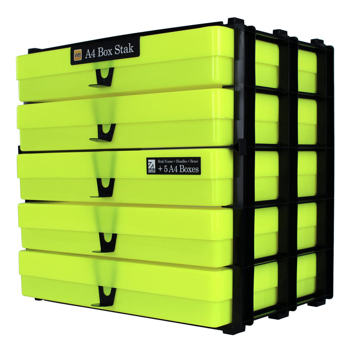 A4 Box Stak Craft Storage Unit, Neon