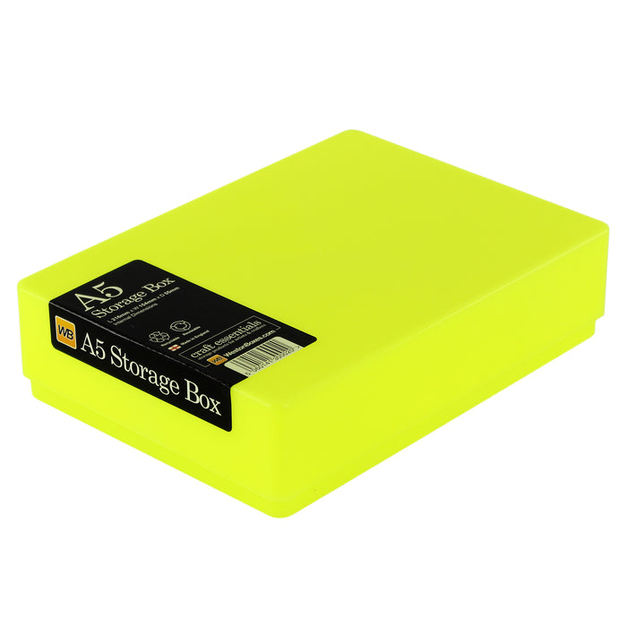 A5 Plastic Storage Box, Neon