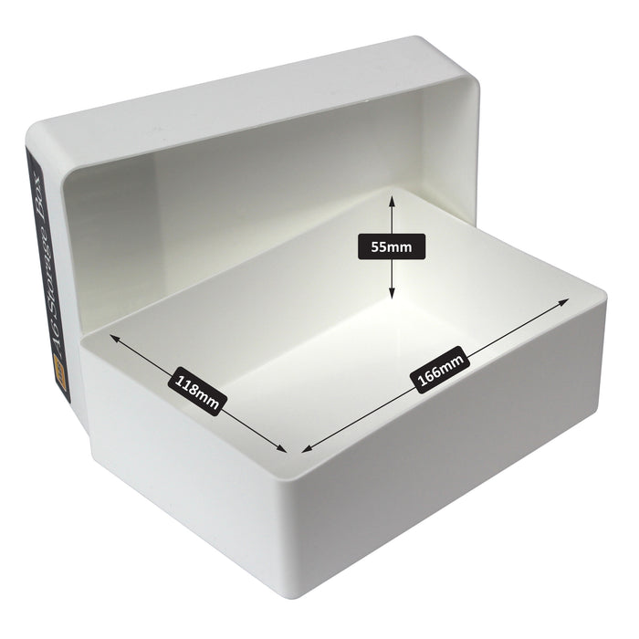westonboxes a6 paper storage boxes white