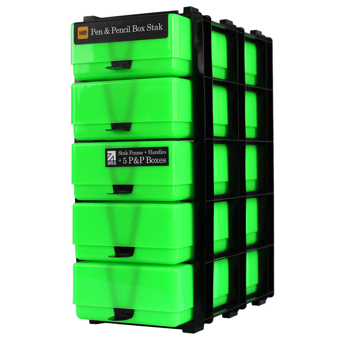 Pen & Pencil Box Stak Craft Storage Unit, Neon