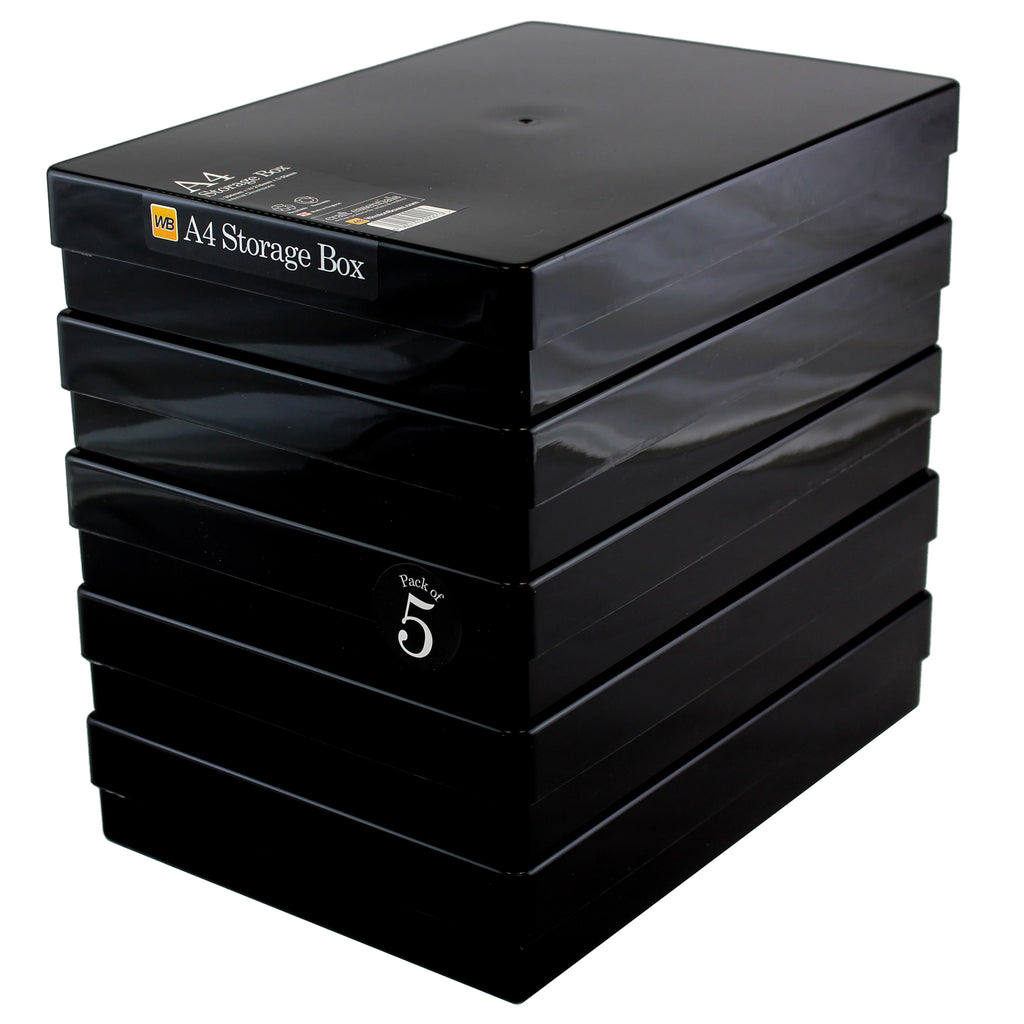 Weston Boxes - A4 Plastic Storage Box - Black