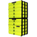 Neon Yellow / Opaque, WestonBoxes Craft Storage Box Stak Stack Unit For A4 Paper Storage Boxes